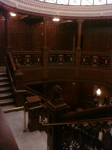 Full scale replica of the Titanic's Grand Staircase.