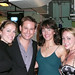 Julie, Chad Kimball, Alice Ripley, Emily Rozek at a benefit in L.A.