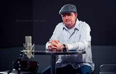 Social Media Strategist (isayx3) Tags: light portrait music mike hat studio nikon key 85mm nikkor f18 recording d3 jimgray studioes strobist plainjoe