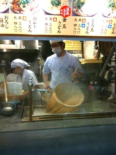 丸亀製麺、うどん上げ