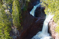 Devils Kettle (JohnMiller Photography) Tags: park lake minnesota rock canon river rebel state north superior grand falls waterfalls shore judge gorge volcanic marais duluth xsi lutsen magney 450d devilskettle