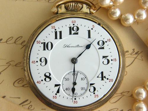Vintage 1913 Hamilton Pocket Watch