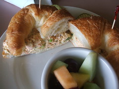 Salmon salad croissant