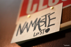 NAMASTE LOST  (aljoharah algefary) Tags: wall paper lost keyboard board hanging series namaste the         2352010