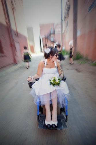 a wheelchair and have never worn a ton of dresses so the wedding dress