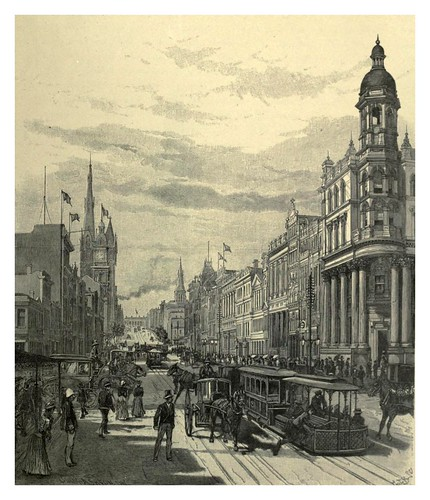 026-Melbourne-Collins street vista este-Australasia illustrated (1892)- Andrew Garran
