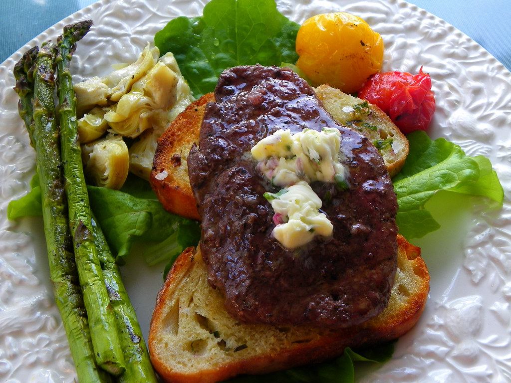 Summer Living: Grilled Tenderloin With Chive Blossom Butter