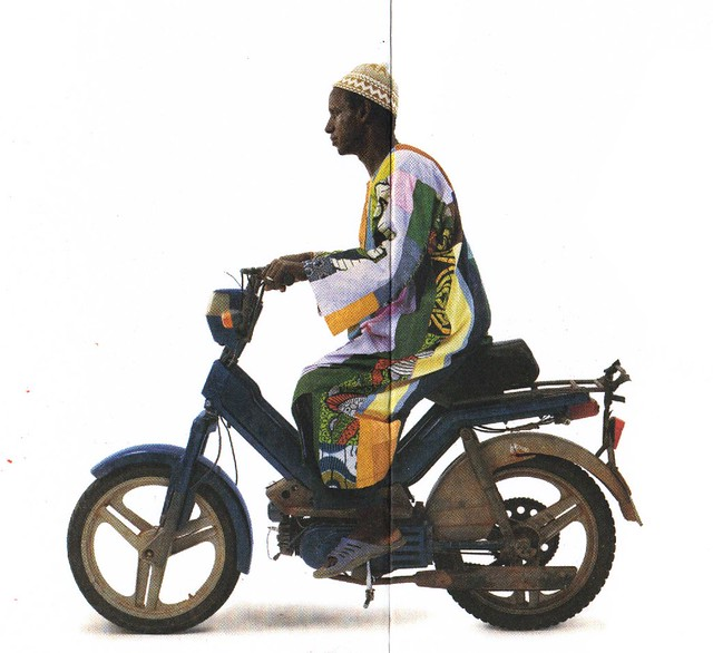 african moped rider