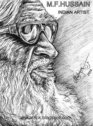 Mf hussain artist anikartickchennaitamilnaduindia