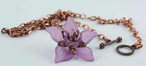 Purple Daffodil Necklace by KhalliahDesign