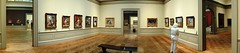 EmptyBenches_TheMET(11_PAN) (rverc) Tags: nyc art monet met sisley metropolitanmuseum cezanne renoir manet courbet europeanpaintings