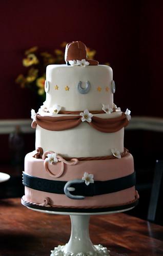 Alissa & Pat's Western Wedding Cake