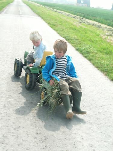 Vervoer hooi, methode 2