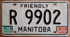 MANITOBA 1992-93 ---REPAIR VEHICLE PLATE (woody1778a) Tags: world auto canada car woody plate manitoba licenseplate collection number 1993 license plates 1992 foreign towtruck numberplate licenseplates numberplates carplate carplates repairer autotags cartags pl8s worldplate repairvehicle