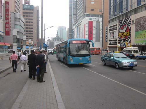 Waiting for the Bus in Dalian