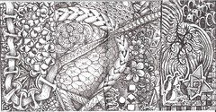 Outside Wallet (molossus, who says Life Imitates Doodles) Tags: wallet zentangle zendoodle zentangleinspiredart