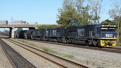 90 class coalie (sth475) Tags: railroad bridge autumn train diesel empty railway loco australia nsw locomotive coal fc freight pn huntervalley overbridge tarro emd 9016 9022 9030 90class