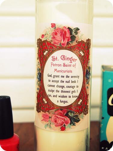 """St. Ginger """"Prayer"""""""