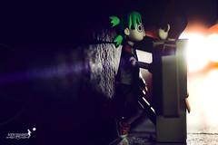 Finally..she saw the man behind the mask... (achew *Bokehmon*) Tags: light anime cute green love dark hair lens toy robot back amazon box sony first story flare alpha met strobe yotsuba danbo a850 danboard