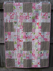 Front of Nicey Jane Lattice quilt