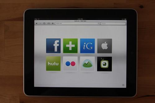 Titou MyFav web page Safari iPad