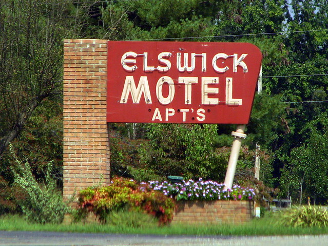 Elswick Motel neon sign
