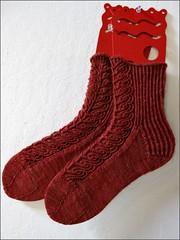 Rusty Dahlia socks