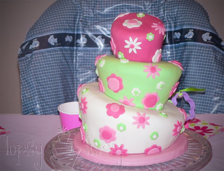 birthday cake party topsy turvy tutorial