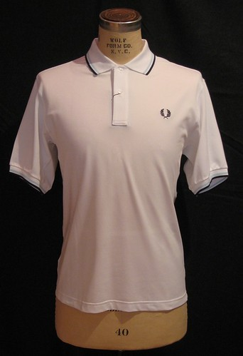 Fred Perry - M5501 - Activair Performance Polo - White Navy Ice by  you.