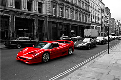 Ferrari F50 Regent street London (Vincent van Es) Tags: red london car fast ferrari regentstreet expensive horsepower f50 tamron1750 canon40d vincentvanes