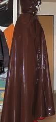 Brown shiny vinyl cape over Latex Outfit (lacki310510) Tags: latex cloak lack raincape kleppercape latexcape sbrcape lackcape bondagecape shinyvinylcape rubbercapelatexoutfit runbberisedsatincape