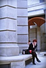 Telephone/ (Tahnee O) Tags: red london coffee girl fashion hair shoes pretty alt candid stpauls indie