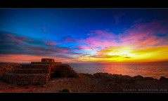 Bunker (scott masterton) Tags: light sunset sea espaa seascape scott islands spain gun pentax bunker punta nati defensive islas position menorca fascinating baleares masterton emplacement balearic sigma1020mm k200d