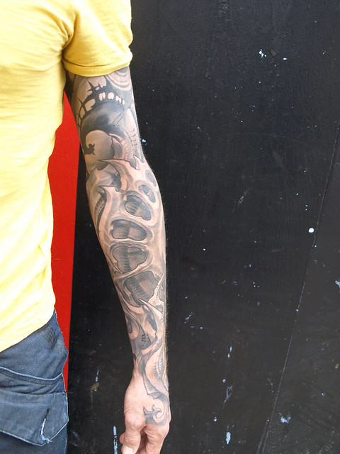 biomechanical tattoo sleeves