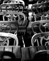 Saint-Germain de près (lachaisetriste) Tags: blackandwhite bw paris table noiretblanc terrasse nb saintgermaindesprés rue nuit chaise d700