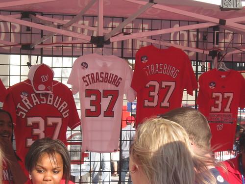 Stephen Strasburg t-shirts on sale at Nationals Park