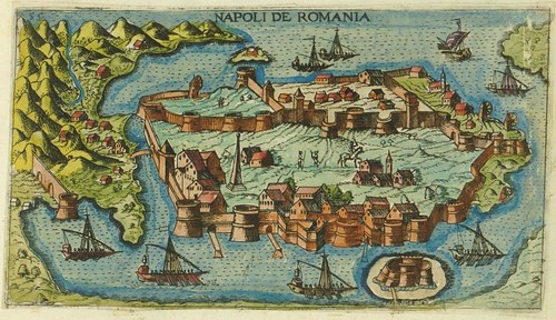 Napoli de Romania - map of Napflion, Greece