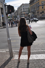 Summer (marcovdz) Tags: street summer woman france girl lady french marseille heart femme coeur t rue fille vieuxport franaise canebire