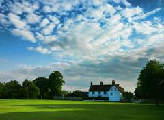 Summer evening (horrigans) Tags: blue light summer sky green june 2010 miltonkeynesvillage panasonicfs15