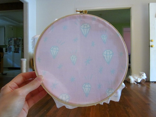 Embroidery Hoop Fabric Art 6