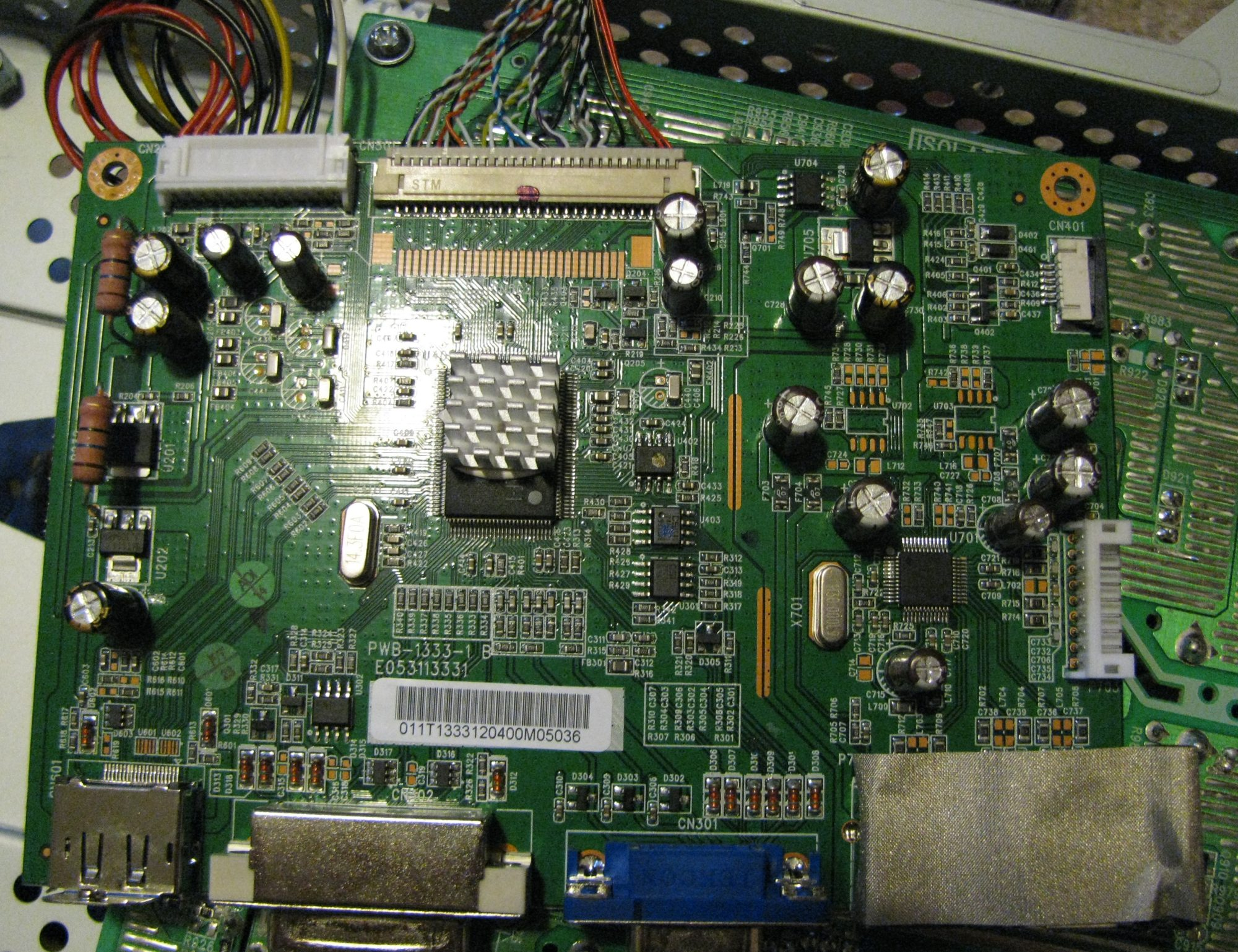 惠普2009f显示器电路板