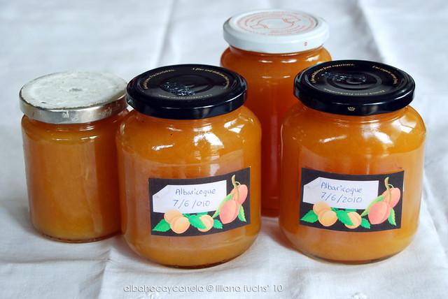Homemade apricot jam