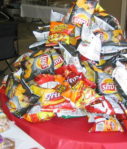 piles of chips