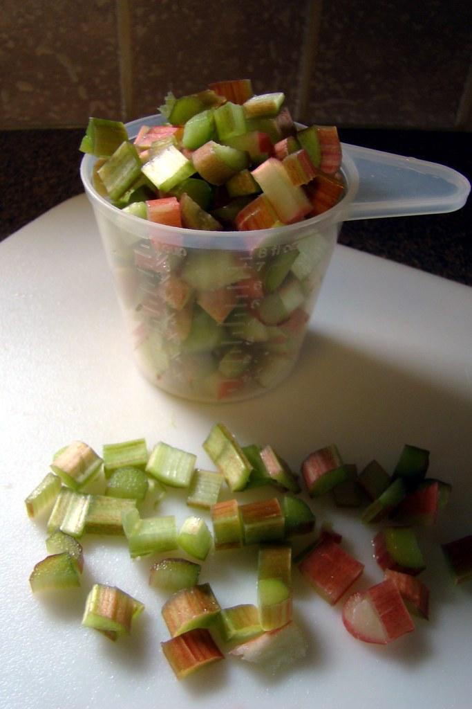 cups of rhubarb