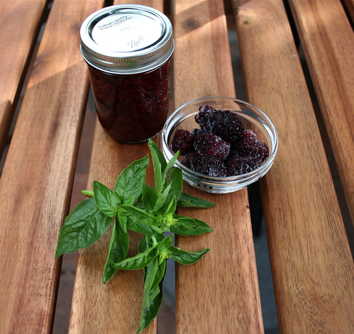 Blackberry Basil Jam - What do you do with big beautiful blackberries and a full-on bouquet of basil? Make blackberry basil jam, of course!