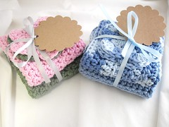 New pictures of the dish cloths for the new shop