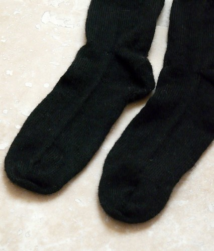 Simple Luxury Alpaca -- Black socks
