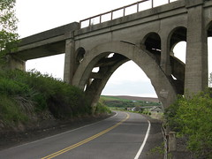 Milwaukee Road Bridge,Rosalia,Washington. (montanatom1950) Tags: abandoned concrete washington bridges arches milwaukee railroads rosalia trestles milwaukeerailroad milwaukeeroad fallenflags abandonedrailroads historicbridges abandondoned rosaliawashington