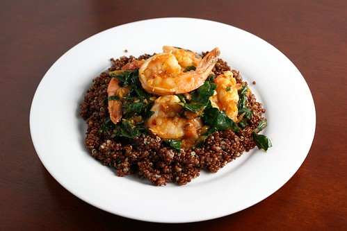 Spicy Garlic Shrimp with Kale and Quinoa