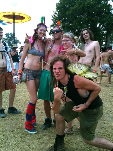 Bonnaroo freaky peeps having fun